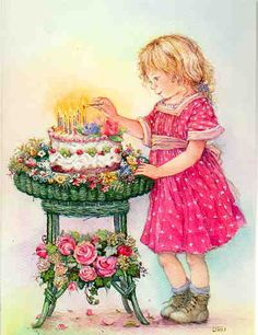 Sarah Kay - My sister used to take us to her girlfriends and we would play dress up for hours. Vintage Pictures, Vintage Images, Cute Pictures, Sarah Kay, Holly Hobbie, Vintage Greeting Cards, Vintage Postcards, Picture Postcards, Vintage Birthday