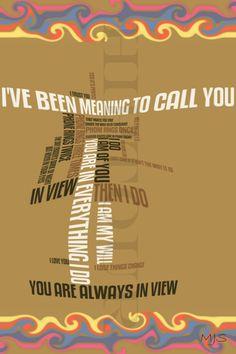 The Tragically Hip 'In View' - Digital Lyric Art