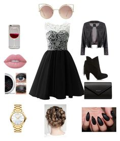 """""""Party Wear"""" by jacobsartorius2002 on Polyvore featuring Balenciaga, MANGO, Lime Crime and Movado"""