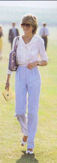 July 29, 1983: Princess Diana at a polo match at Cowdray Park, Midhurst, West Sussex.