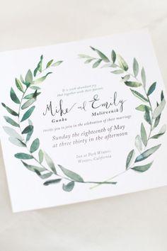 Hip Green California Wedding from Laura Nelson - wedding invitation: