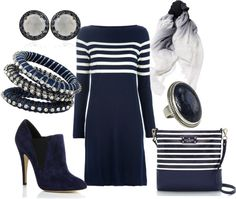 """""""White and Navy"""" by leslie-giaudrone-berends on Polyvore"""
