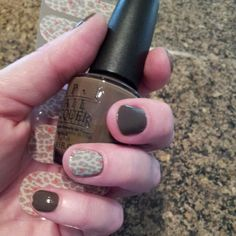 Jamberry Neutral Leopard and Opi You Don't Know Jacques. Nail Art- honey, the only way this is happening is by Jamberry Nail Wraps. Click the image to see what you can create with over 300+ designs. Find me on Facebook for a FREE sample: https://www.facebook.com/jamberrynailswithsarahwiley