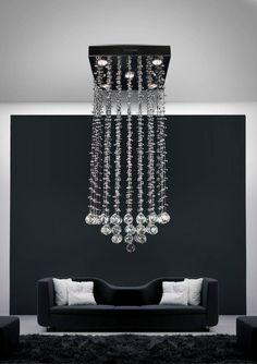 Hanglamp kristal vierkant Ø 400mm 5xGU10