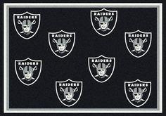 Oakland Raiders Rug NFL Team Repeat