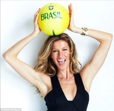 Gisele Bündchen is the richest and most famous of the Brazilian supermodels.  Gisele is  slated to be in her native Brazil next month to present the trophy to the winners of the World Cup.   Among her many accomplishments, the multi-talented supermodel has been ranked the 5th most powerful business woman in Brazil by Forbes Magazine.   Additionally, she is a Goodwill Ambassador for the United Nations Environment Program and a working mother.