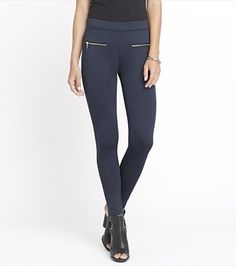 Add a little luxury to your legging collection with this stunning scuba navy pair.