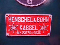 Henschel und Sohn Kassel Typenschild