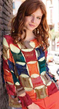 Really cute crochet pullover! Very unique