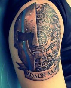 Thin blue line tattoo idea my style pinterest my for Law enforcement tattoos pictures