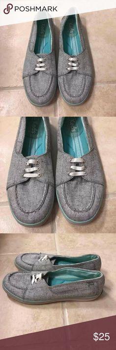 Keds silver slip on loafers size 7.5 Keds silver slip on loafers size 7.5 Keds Shoes Flats & Loafers