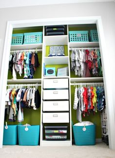 Baby Boy Nursery Closet   DIY Nursery Decor   Navy Green Gray   This Is Our  Bliss