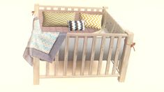 UpdateFreya Set A fully functional 4 tile crib with accessories. This set includes: • Freya crib with ribbons (High poly) • Freya crib without ribbons (Low poly) • 2 blankets (place with moveobjects on & holding down alt button) • 3 Pillows (1...