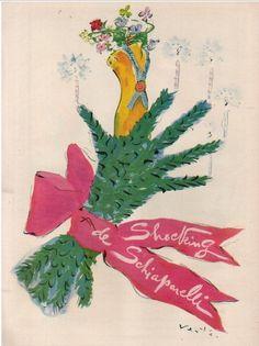 Shocking by Schiaparelli, 1943.  Illustration by Marcel Vertes.