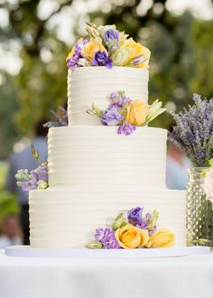Purple & Yellow Homegrown Wedding in Napa on Borrowed & Blue. Photo Credit: JSL Pictures