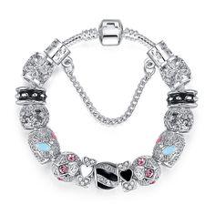 Women Chic Silver Plated Beads Ball Bangle Cuff Vogue Bracelet Jewelry  NB