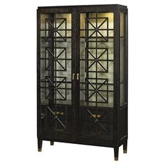 Check out this item at One Kings Lane! Eliza Walnut Cabinet, Dark Brown