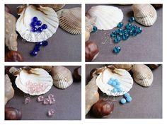 set 10 pcs Glass Beads Rondelle blue pink от CreativeRoomKartA