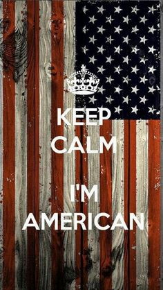 I'm American!-- and NO American is not defined by blonde hair and blue eyes, it is defined by our American culture, our love for our country, and by the value and uniqueness we all bring to our country. I LOVE America.