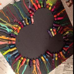 Mickey mouse crayon art (: I made this!!