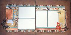 12x12 double page scrapbook layout Pet Cat