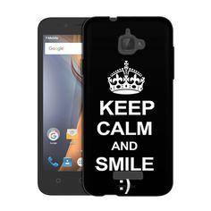Samsung Galaxy On5 KEEP CALM and Smile on Black Slim Case