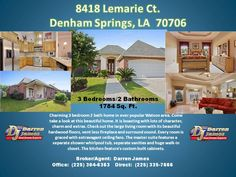 #homes for sale Denham Springs, LA  #houses for sale Denham Springs, LA  www.agent225.com