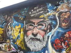 Terry Pratchett graffiti memorial 4.