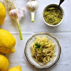 Rezept von Cettina Vicenzino: Bavette al limone con pistacchi – Nudeln mit Zitronensauce und Pistazien