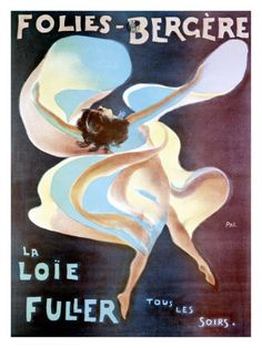 Born in Chicago in 1862, Loie Fuller performed as a skirt dancer on the burlesque circuit, before becoming the toast of Paris' Folies Bergeres in 1892. An early pioneer of both modern dance and theatrical lighting techniques, she held many patents for stage lighting—including the first chemical mixes for gels and slides and the first use of luminescent salts to create lighting effects.