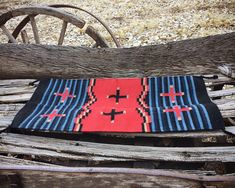 Vintage 20 x 40 Zapotec Rug Wall Hanging in Red Blue Black, Mexican Rug, Southwestern Home Decor Mexican Rug, Southwestern Home Decor, 90 Day Plan, Hacienda Style, Spanish Style, North Africa, Wool Rug, Red And Blue, Rugs