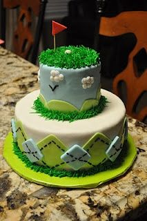 #golf cake! Great idea for a golf tournament or wedding at a golf country club