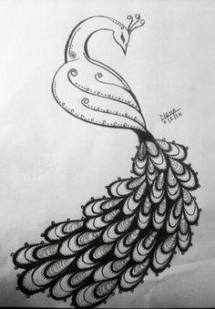 Beautiful Peacock Sketch Pencil Sketches Pinterest Peacock