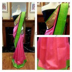 Shaded Raw silk saree