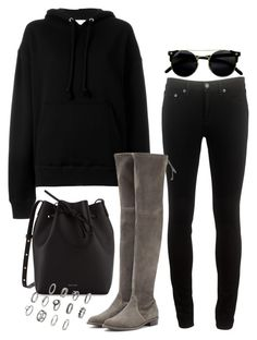 """""""Untitled #793"""" by oliviaquan22 ❤ liked on Polyvore featuring rag & bone, IRO, Stuart Weitzman and Mansur Gavriel"""