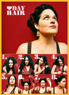 Heart-day Hair-- can try this once my hair gets longer Curly Hair Styles, Natural Hair Styles, Grow Hair, Hair Day, Trendy Hairstyles, Hair Inspiration, Hair Makeup, Hair And Nails, Hair Cuts