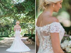 off the shoulder lace wedding dress - David Tutera for Mon Cheri Aura (Style No. 116201)  ~  we ❤ this! moncheribridals.com