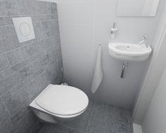 Mooi toilet grijze tegel mooi groot door ralph2 home toiletroom pinterest toilets - Toilet ontwerp deco ...