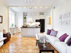 [ Best Small Open Plan Kitchen Living Room Design Ideas Sofa Designs For Rooms ] - Best Free Home Design Idea & Inspiration Living Room And Kitchen Design, Open Plan Kitchen Living Room, Kitchen Design Open, Small Room Design, Small Living Rooms, Kitchen Designs, Kitchen Ideas, Modern Living, Living Area