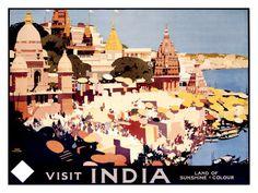 Visit India by Rail Gicléedruk