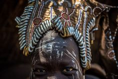 Africa   Detail from a head ornament worn by a Mursi woman.  Omo Valley, Ethiopia   ©Anthony Pappone.