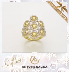 Get Inspired - Christmas Gifts Ring 18Kt Gold  Click for Details  http://www.antoinesaliba.com/link.php?id=414