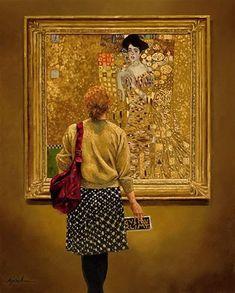 "Daily Paintworks - ""Women in Gold"" - Original Fine Art for Sale - © Karin Jurick"