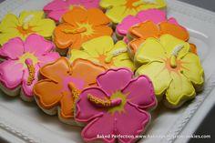 hawaiian decorated cookies