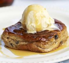 Spiced French toast. A quick treat that will help to use up Easter's leftover hot cross buns