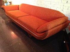 mid century Adrian Pearsall attr gondola sofa by Midcenturyville, $2100.00