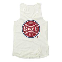 Chris Sale Ball R Boston Officially Licensed MLBPA Womens Tank Top S-XL