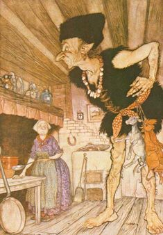 No Hours But (Sort of) Sunny Ones -  Article on Arthur Rackham  Jack_and_the_Beanstalk_Giant_-_Project_Gutenberg_eText_17034