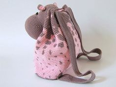Hippo Backpack crochet by Chabepatterns