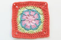 """256/365 - #80 - pattern from """"Leisure Arts 99 Granny Squares to Crochet"""""""